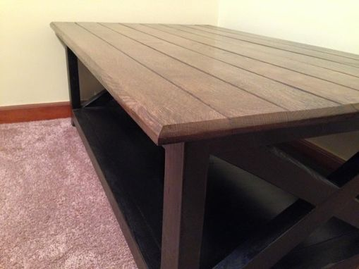 Custom Made Rustic X Style Coffee Table, End Tables