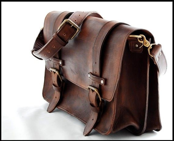 Custom Made 16 Inch Laptop Bag With Matching Leather Strap