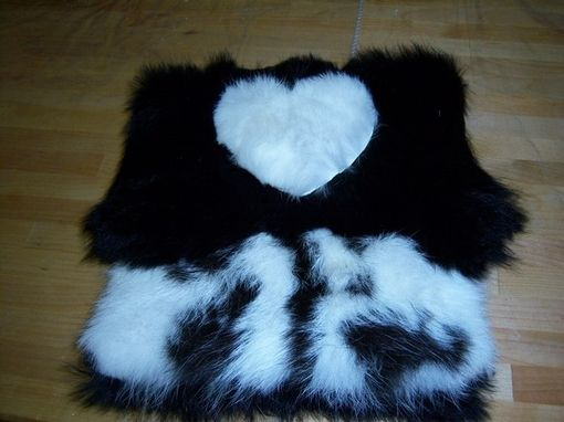Custom Made Rabbit Fur Purse With Heart