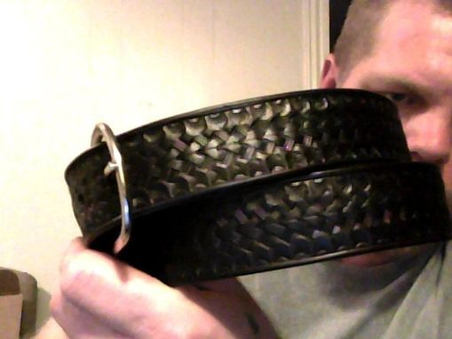 Custom Made Stamped Leather Belt