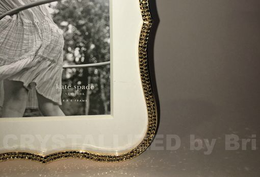 Custom Made Crystallized Kate Spade Crown Point Picture Frame Made With Swarovski Crystals