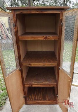 Custom Made Rustic Linen / Pantry Cabinet
