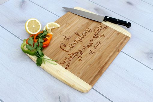 Custom Made Personalized Cutting Board, Engraved Cutting Board, Custom Wedding Gift – Cb-Bam-Camdons