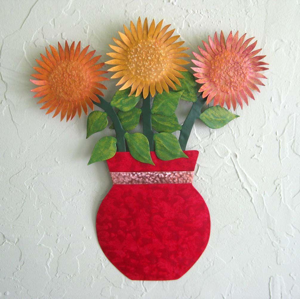 Art Décor: Buy A Hand Crafted Metal Sunflower Wall Art Sculpture