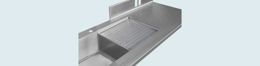 Custom Made Stainless Countertop With Sink & Drainboard