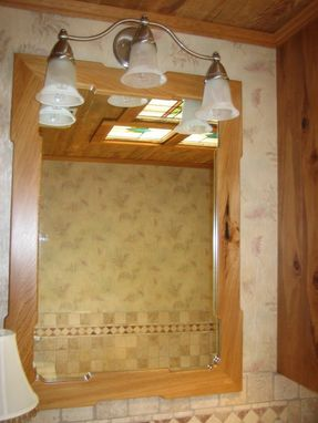 Custom Made Bathroom Cabinets In Reclaimed Cypress