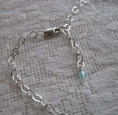 Custom Made Teal Green Crystal And Silver Necklace And Earring Set-Free Shipping