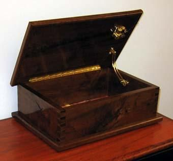 Custom Made Walnut Music Box