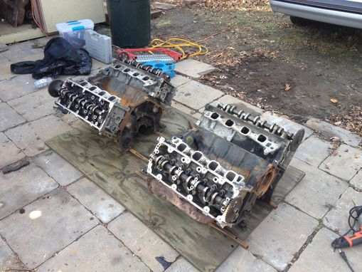 Custom Made Recycled Twin V8 Engine 6ft Long Coffee Table