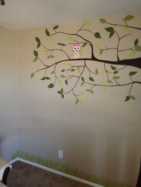Custom Made Tree Mural With Owls