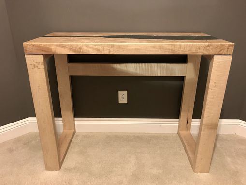 Custom Made Maple River Glass Console/Entryway Table
