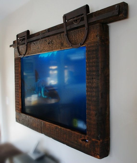 Custom Made Hanging Tv Barn Door Style