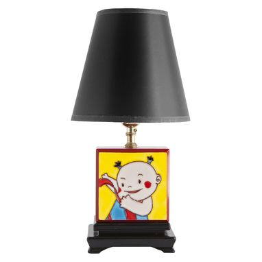 Custom Made Small Vintage Children's Box Lamp