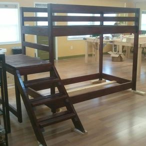 Custom Bedroom   CustomMade com Loft Or Bunk Bed With Stairs by Michelle Woodward. Custom Bedroom Furniture. Home Design Ideas