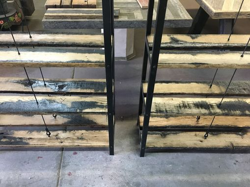 Custom Made Reclaimed Wood Merchandise Shelves
