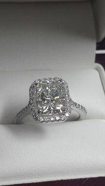 Custom Made Diamond Radiant Engagement Ring