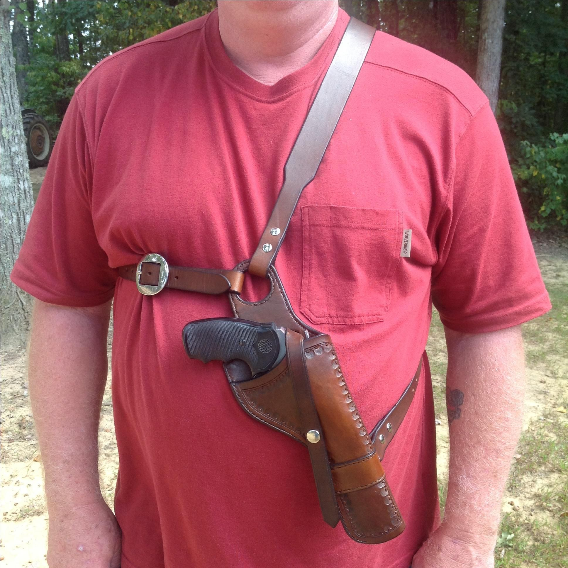 Hand Made Custom Handcrafted Holster by Hubbard Leather