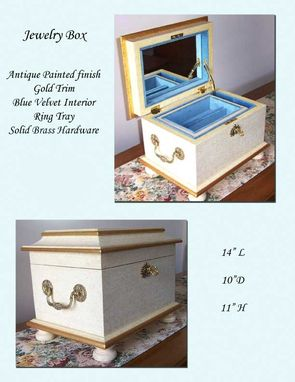 Custom Made Antique White Jewelry Chest For Sale Now