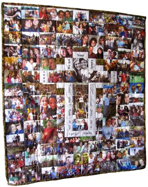 Custom Made Custom Made Photo Quilt Using Mixed Horiz & Vert Photos