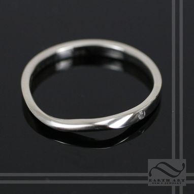Custom Made Mobius Wrap Ring With Diamond