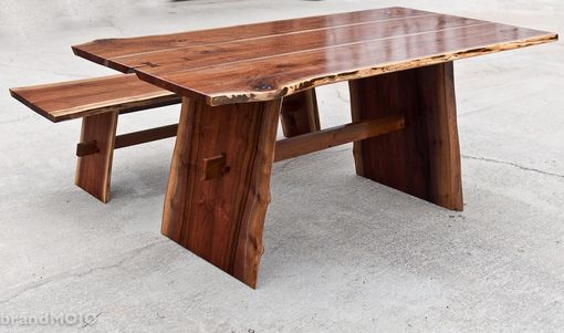 Custom Made Live Walnut Edge Dining Table W/ Optional Bench