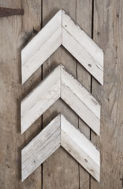 Custom Made Wall Arrow / Cheveron Decor Salvaged White Barn Siding