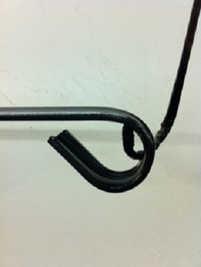 Custom Made 2' Wrought Iron Wall Mounted Handrail