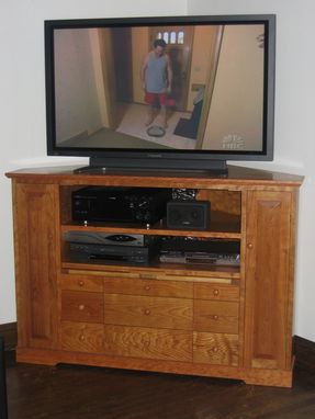 Custom Made Custom Cherry Entertainment Center/Corner Cabinet