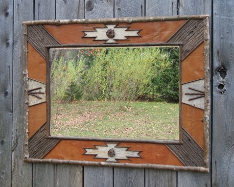 Custom Made Mohawk Trail Rustic Mirror