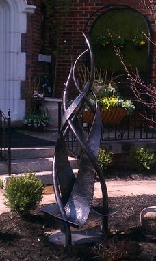 Custom Made Hand Forged Outdoor Iron Sculpture