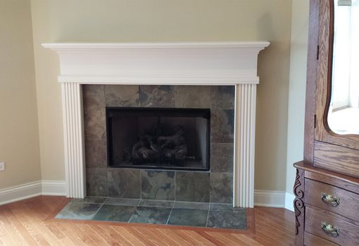 Custom Made Fluted Milwaukee Wood Mantel