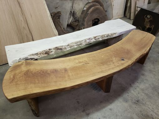 Custom Made Cherry Live Edge Bench Maple Live Edge Bench