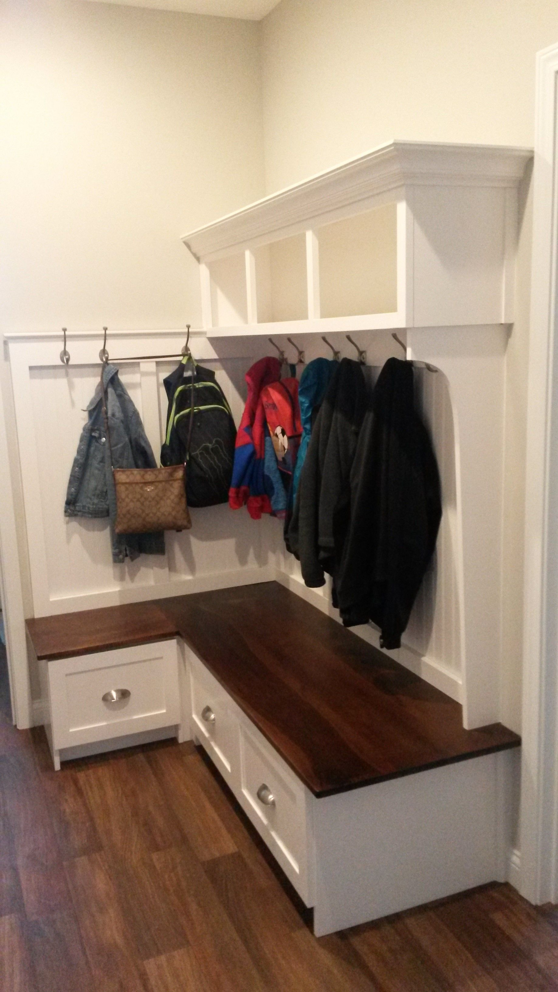 Buy a Handmade Mudroom Bench, made to order from Shadowhill Custom