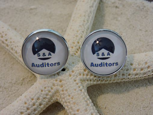 Custom Made Sterling Silver Plated Custom Cuff Links 20mm
