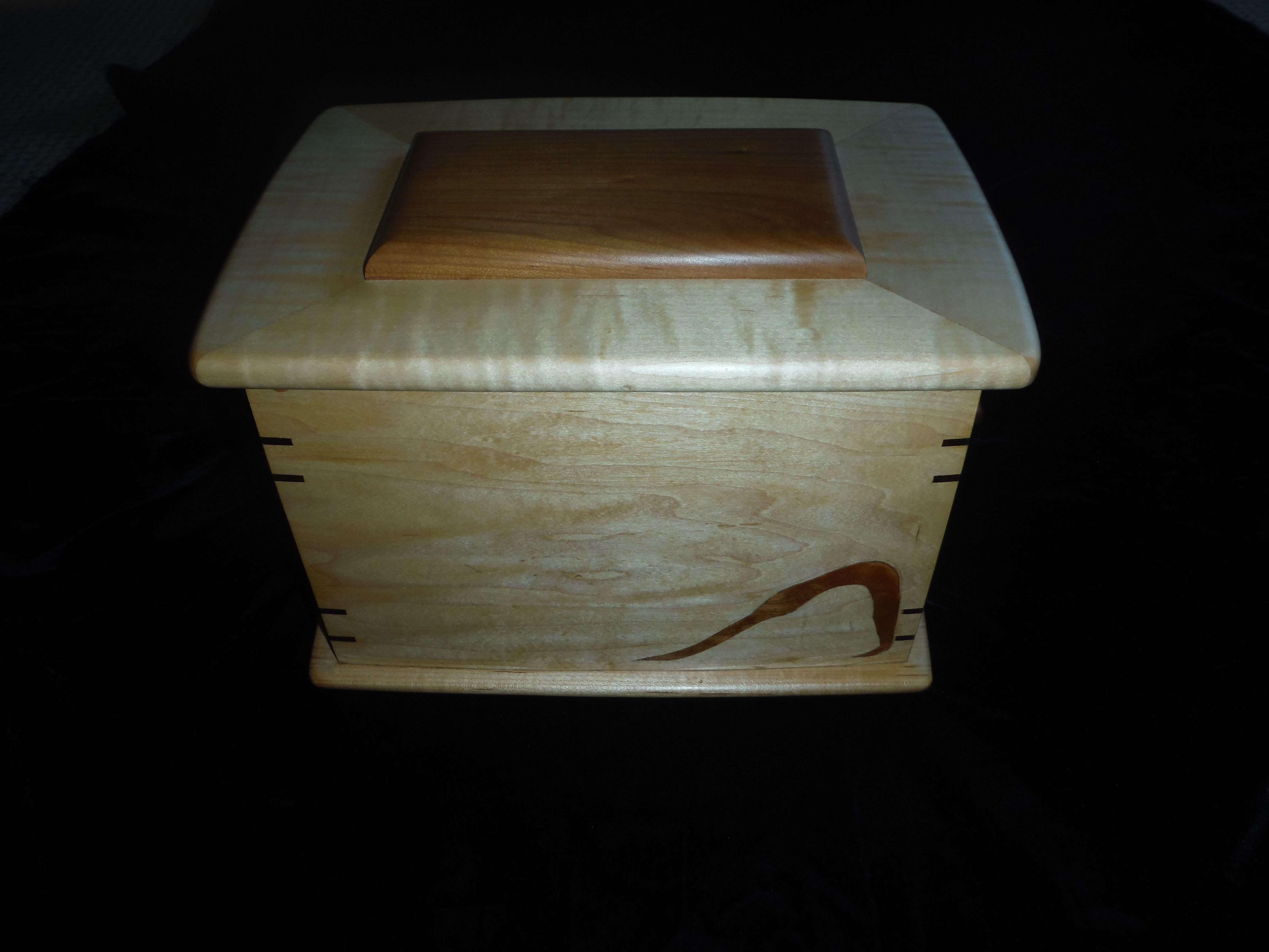 Buy Hand Made Maple Jewelry Box With Slotted Insert Trays