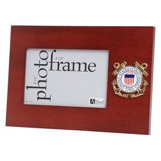 Custom Made U.S. Coast Guard Medallion Desktop Picture Frame