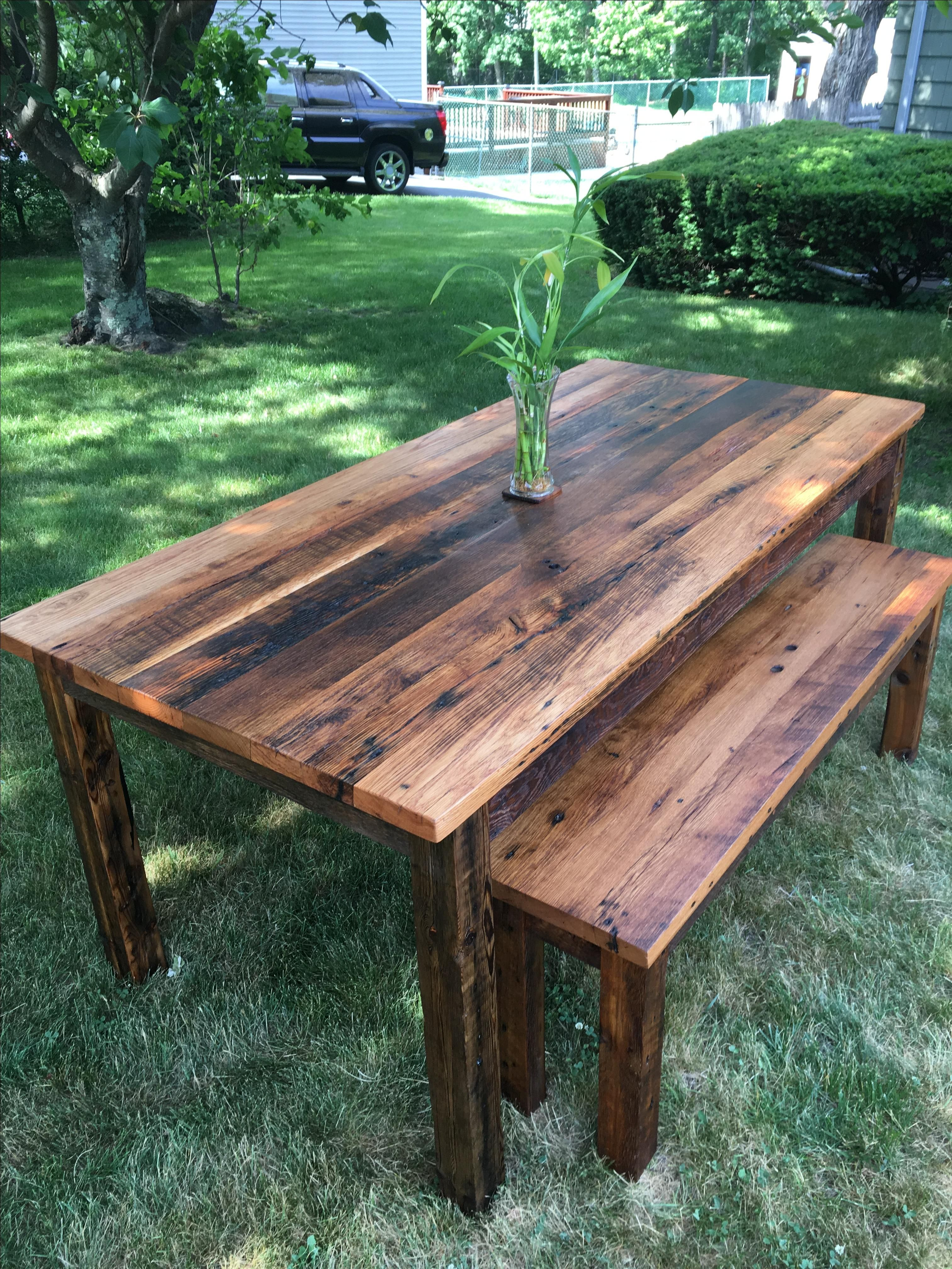 Buy a Custom Reclaimed Oak Farm Table made to order from