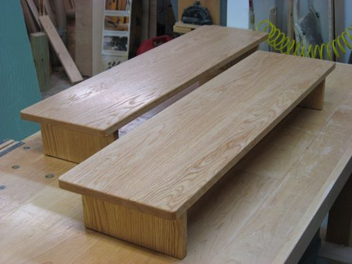 Custom Made Oak Bed Steps