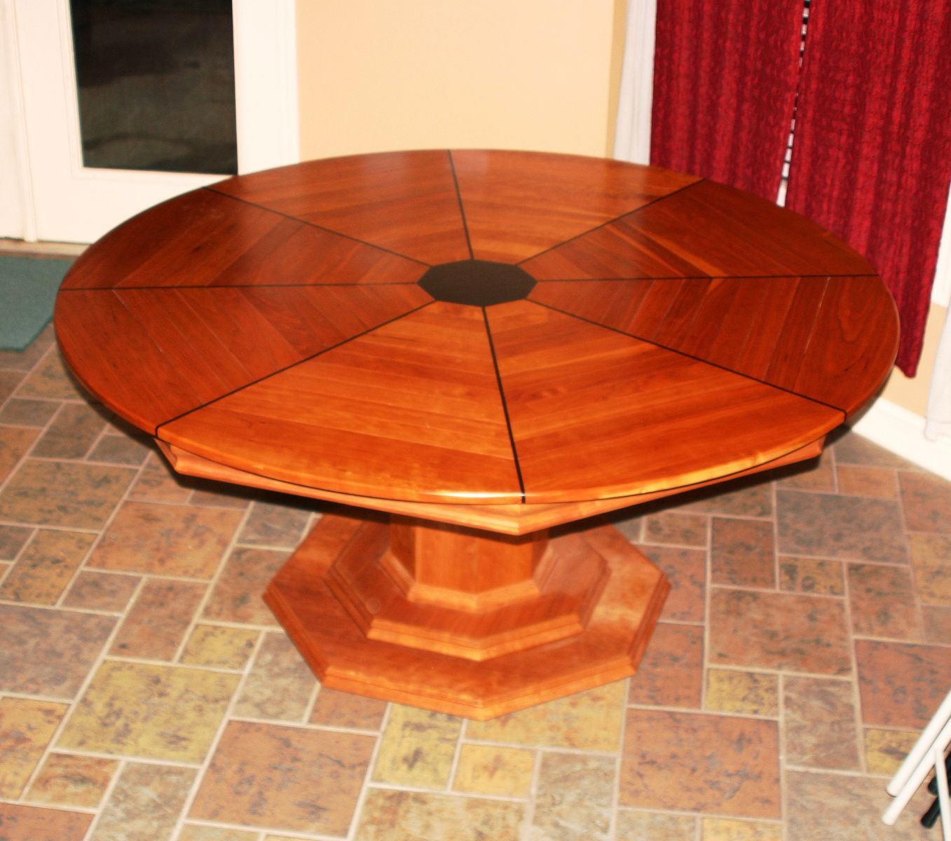 Hand Crafted Cherry Dining And Poker Table By Carolina