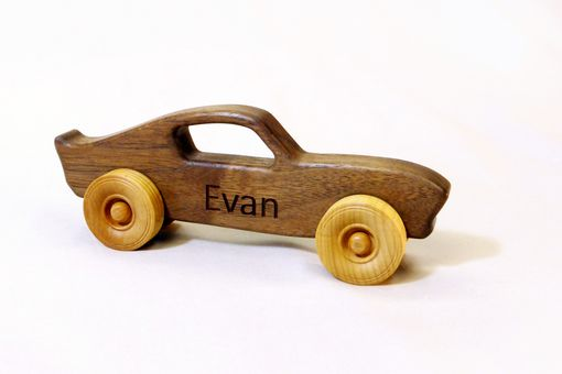 Custom Made Wooden Toy Muscle Car - Customized With Name