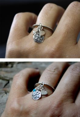 Custom Made Sterling Silver - Beach Charm Ring