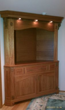 Custom Made Corner Entertainment Cabinet