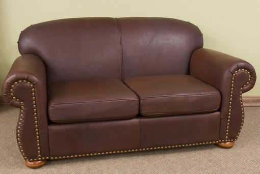 Custom Made Leather Loveseat