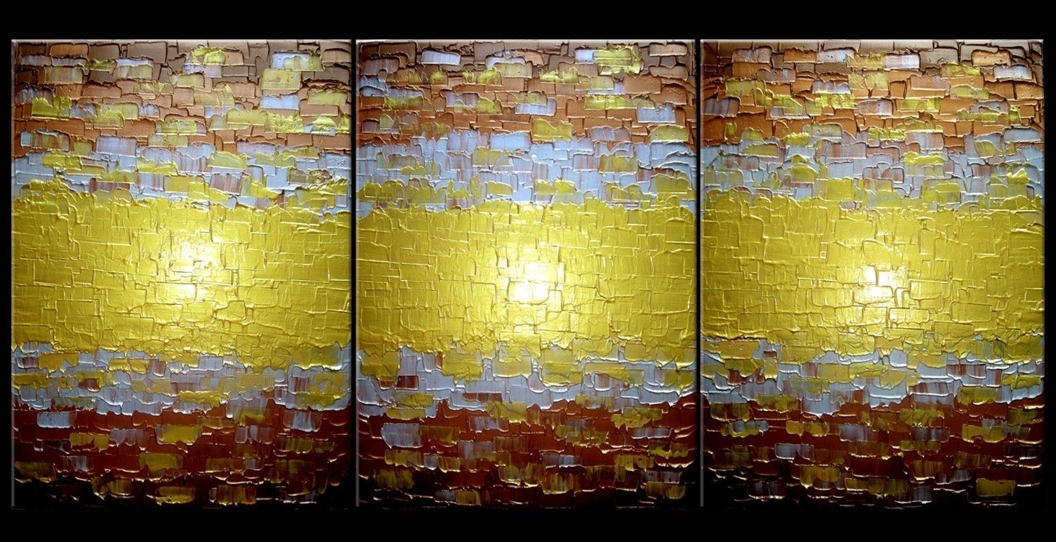 Buy Custom Made Abstract Painting, Textured Metallic Art, Large Gold ...