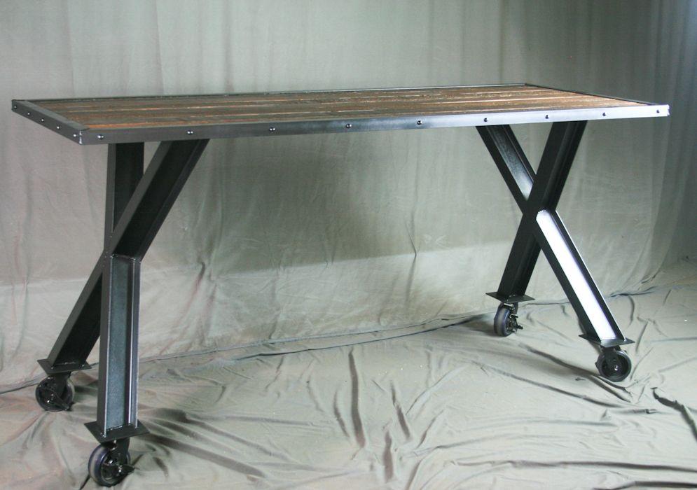 modern industrial desk work custom made industrial desk table modern dining vintage industrial reclaimed buy hand