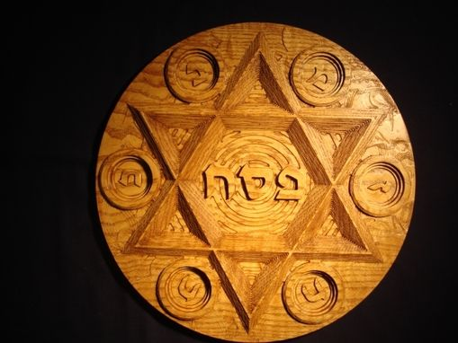 Custom Made Large Ash Seder Plate With Paisley Background