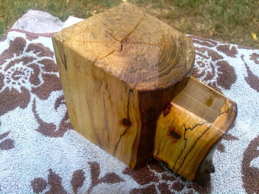 Custom Made Spalted Wooden Box With Drawer