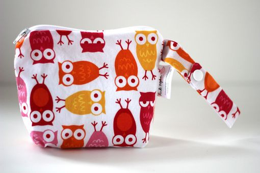 Custom Made Small Gusseted Messy Bags (Snack Bags) - Pink Owls