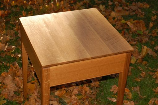 Custom Made Quater-Sawn Oak Corner Table