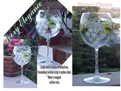 Custom Made Ivory Elegance Designed Wine Goblets